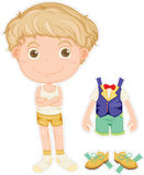 A Boy. Illustration of a boy on white background Royalty Free Stock Image