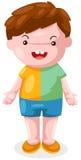 Boy. Illustration of isolated cute boy on white background Royalty Free Stock Images