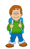 Boy. With a bag stock illustration