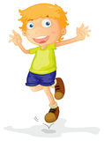 A boy. Illustration of a boy on a white background Stock Images