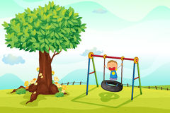 Boy. Illustration of a boy playing in nature Stock Photo