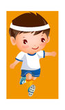 The Boy. Boy in football player uniform Royalty Free Stock Image