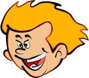 Boy. Golden hair boy face illustration vector illustration