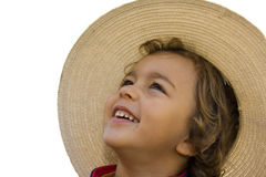 Boy. Young boy portrait with hat Stock Photography