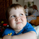 Boy. Mood of child Royalty Free Stock Image