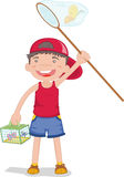 Boy. An illustration of a boy fishing Stock Photography
