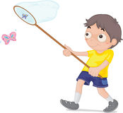Boy. An illustration of a boy fishing Royalty Free Stock Image