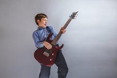 Boy adolescence European appearance Royalty Free Stock Image