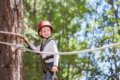 Boy at adventure park Royalty Free Stock Photography