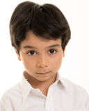 Boy against white background royalty free stock photos