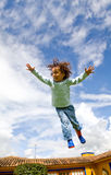 Boy in the air Stock Photography