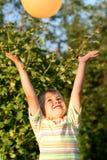 Boy with air-balloon Stock Photos