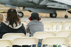 Boy at Air Show Royalty Free Stock Photography