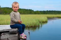 Boy along Royalty Free Stock Photography