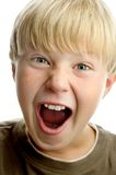 Boy with amazed expression Stock Photography
