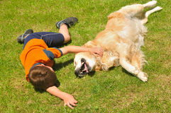 Boy And Dog Royalty Free Stock Photography