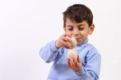 Free Boy And Egg Stock Photo - 35110340
