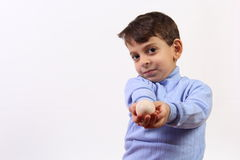 Free Boy And Egg Stock Images - 35110364