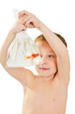 Boy And Fish. Royalty Free Stock Images