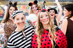 Free Boy And Girl Dresses As Ladybird And Prisoner At German Fastnach Stock Photography - 85419142