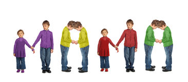 Free Boy And Girl Making Word MAMA, Collage Stock Photography - 11850632