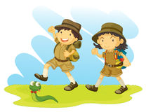Boy And Girl Scout Stock Photos