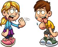 Free Boy And Girl Suffering From Heat Stock Photos - 142101633