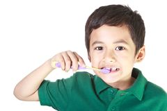 Free Boy And Toothbrush Stock Image - 23863631