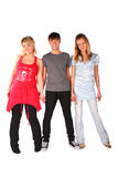 Boy And Two Girls Posing Royalty Free Stock Photos