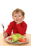 Boy And Vegetables Royalty Free Stock Images