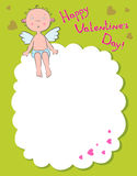 Boy angel on a cloud. Day valentine Stock Images