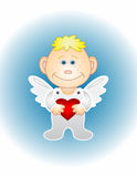 The boy-angel with heart Stock Photography
