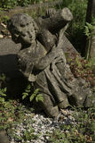 Boy angel in highgate cemetary royalty free stock photos