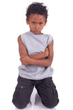 Boy angry. Indian Boy angry black children stock photos