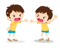 Boy angry shouting Stock Photography