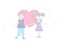Boy ans girl in love Stock Image