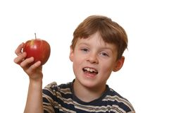 Boy with apple Royalty Free Stock Photo