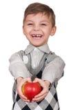 Boy with apple Stock Photo