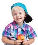 Boy with apple Stock Photography