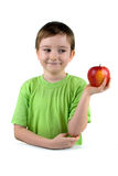 Boy with apple Stock Photos