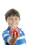 Boy with apple Royalty Free Stock Photography