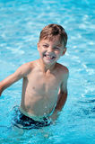 Boy at aqua park Stock Photography