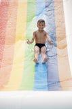 Boy at aqua park Stock Images