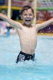 Boy at aqua park Royalty Free Stock Photo