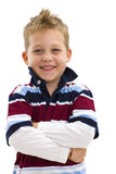 Boy with arms crossed Stock Images