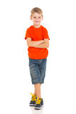 Boy arms crossed Royalty Free Stock Image