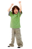 Boy with arms up Stock Image