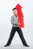 Boy with an arrow Royalty Free Stock Photo