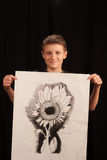 Boy with art project Stock Photography