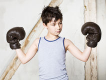 Boy as a boxer Royalty Free Stock Images